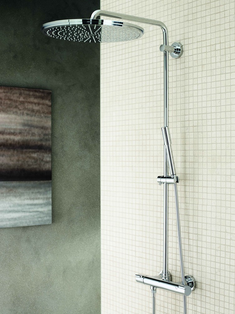 superale grohe rainshower systems sadesuihkusetti 400mm termostaattihanalla 27174001. Black Bedroom Furniture Sets. Home Design Ideas