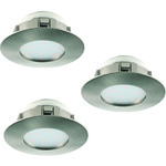 SuperHinnoin! Eglo LED-spotti 3-set Pineda teräs 3X6W IP20