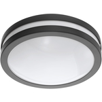 Eglo LED-Kattovalaisin Crosslink Locana-C 14W Ø260x95mm IP44 musta