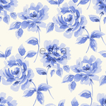 ALE-Hinnoin! ESTA Ginger Tapetti watercolour painted roses taivaansininen 53 cm x 10,05 m Non-woven