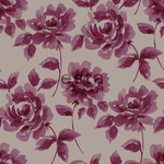 ALE-Hinnoin! ESTA Ginger Tapetti watercolour painted roses munakoiso & harmaa 53 cm x 10,05 m Non-woven