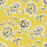 Maalis-ALE! ESTA Ginger Tapetti watercolour painted roses keltainen & ruskea 53 cm x 10,05 m Non-woven