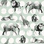 TarjousHinnoin! ESTA Everybody Bonjour Tapetti animals with dots minttu & musta 53 cm x 10,05 m Non-woven