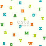 Maalis-ALE! ESTA Giggle Tapetti learning the alphabet lime & oranssi 53 cm x 10,05 m Non-woven