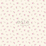 ESTA Denim & Co. Tapetti little roses vaaleanpunainen 53 cm x 10,05 m Non-woven