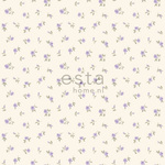 ESTA Denim & Co. Tapetti little roses lila 53 cm x 10,05 m Non-woven