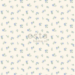 ESTA Denim & Co. Tapetti little roses vaaleansininen 53 cm x 10,05 m Non-woven