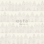 ESTA Denim & Co. Tapetti Amsterdam houses 137716 hopea 53 cm x 10,05 m Non-woven