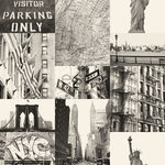 ESTA Denim & Co. Tapetti street view of New York musta 53 cm x 10,05 m Non-woven