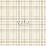 ESTA Denim & Co. Tapetti checks beige 53 cm x 10,05 m Non-woven