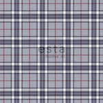 ESTA Denim & Co. Tapetti checks red ja sininen 53 cm x 10,05 m Non-woven