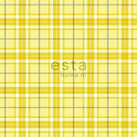 ESTA Denim & Co. Tapetti checks keltainen 53 cm x 10,05 m Non-woven