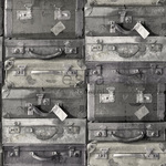 ALE-Hinnoin! ESTA Vintage rules! Tapetti vintage suitcases musta & harmaa 53 cm x 10,05 m Non-woven
