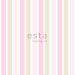 ESTA Everybody Bonjour Tapetti vertical stripes light vaaleanpunainen, beige & valkoinen 53 cm x 10,05 m Non-woven
