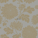 Origin Bloomingdale 326149 flowers harmaaruskea/pronssi non-woven tapetti