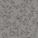 ALE! Origin Ouverture 345930 leaves harmaaruskea non-woven tapetti