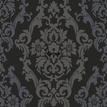 ALE! Origin Beaumont 346208 baroque musta/pronssi non-woven tapetti