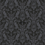 ALE! Origin Beaumont 346218 baroque musta non-woven tapetti