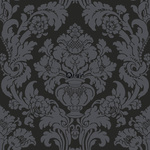 ALE! Origin Beaumont 346236 baroque musta non-woven tapetti