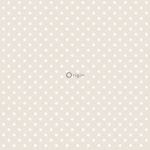 Origin Upstairs & downstairs 346819 dots tummanbeige non-woven tapetti