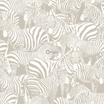 Origin Upstairs & downstairs 346837 zebra's harmaa non-woven tapetti