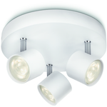 Philips myLiving Star Spottivalaisin Valkoinen 3x4W LED IP20